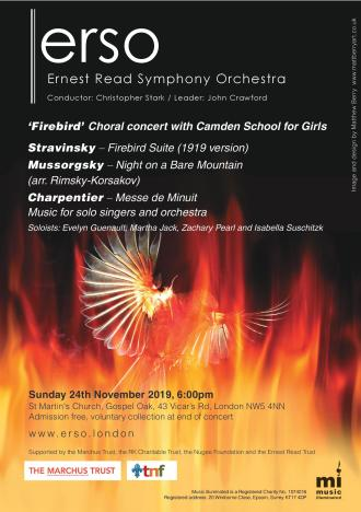 ERSO and CGS November concert flyer